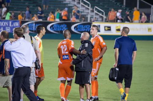 Brian victorious (the Railhawk on the right)