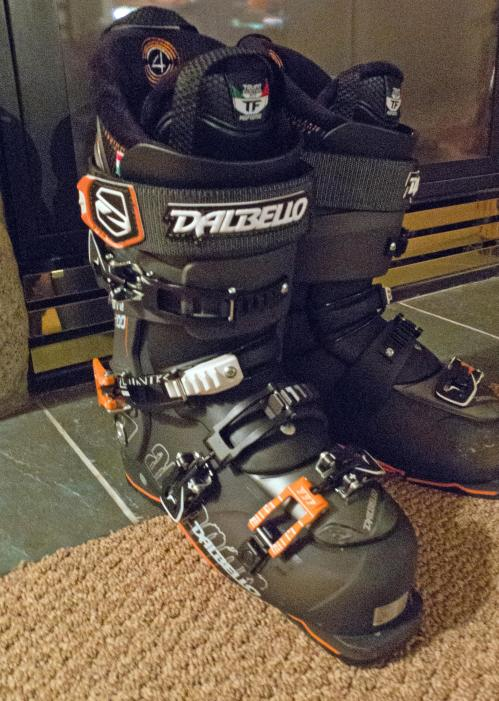 The new boots, after day one at Whistler