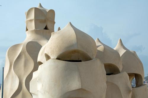 On the roof of Gaudi's La Pedrera