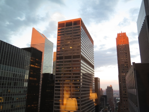 Sunset right after we checked in at the New York Palace