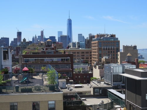 Looking south from the Whitney at the new Freedom Tower