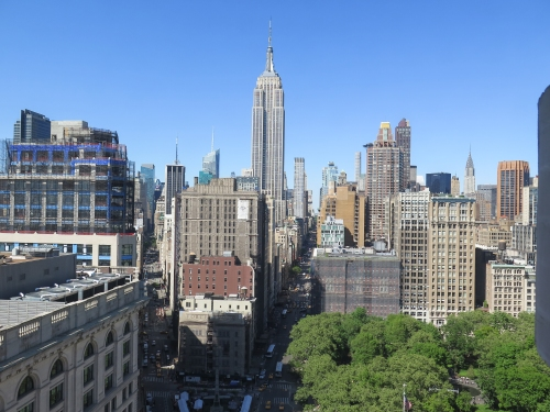 The Empire State Building, from the Flatiron Building