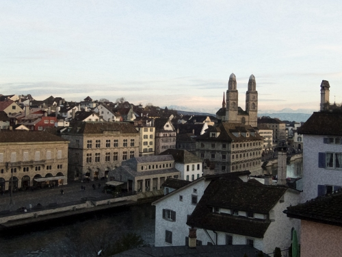 Zürich at sunset
