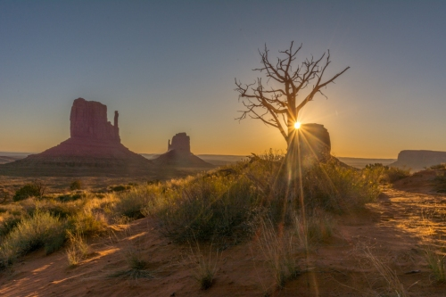 Sunrise at Monument Valley, Navaho Nation
