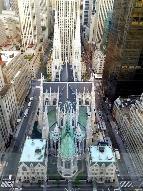 St. Patrick's Cathedral from the 35th floor of the New York Palace